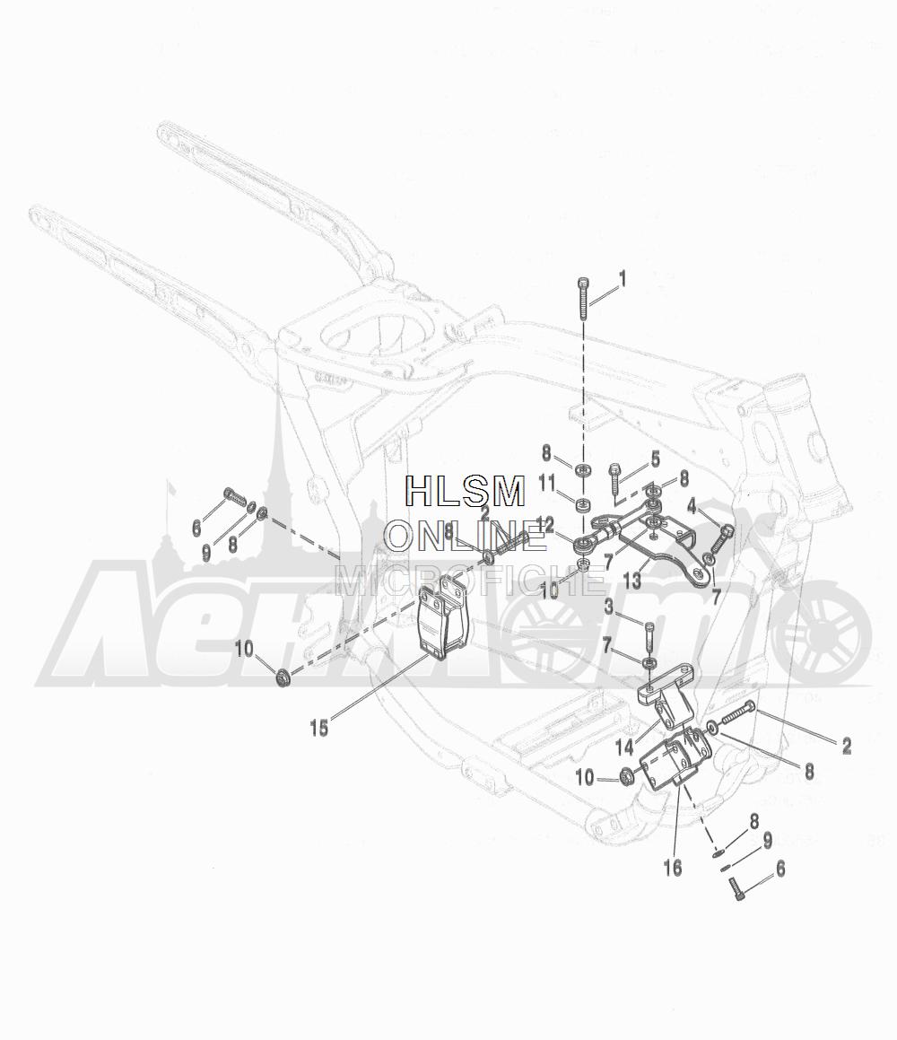 Запчасти для Мотоцикла Harley-Davidson 2016 FLD DYNA 96 SWITCHBACK (GZ4) Раздел: ENGINE MOUNTS W/ STABILIZER LINK | опоры двигателя вместе с стабилизатор