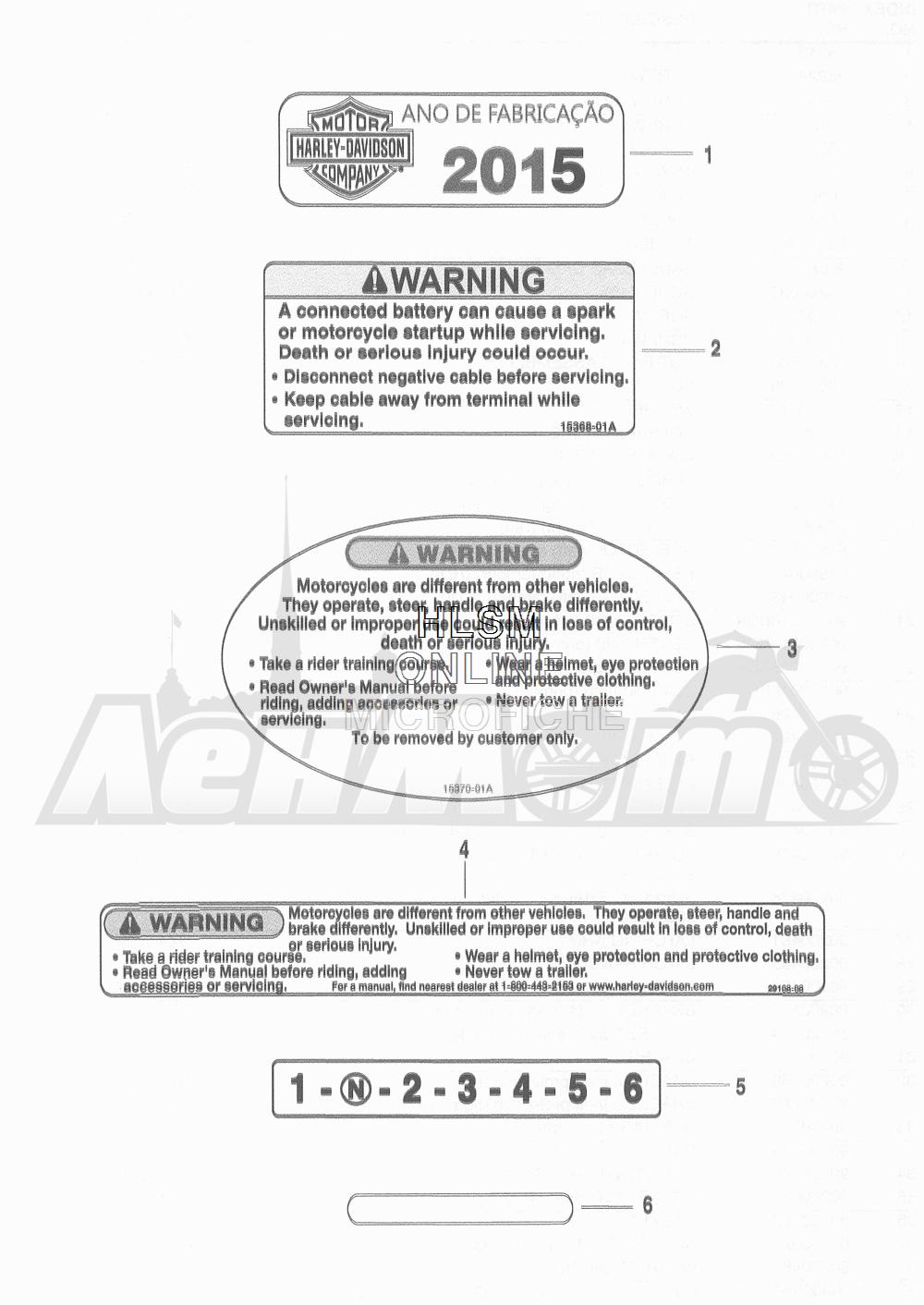 Запчасти для Мотоцикла Harley-Davidson 2016 FLD DYNA 103 SWITCHBACK (GZM) Раздел: GENERAL AND WARNING LABELS | общий и предупреждение этикетки, метки