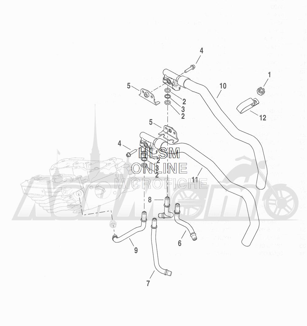 Запчасти для Мотоцикла Harley-Davidson 2016 CVO ROAD GLIDE ULTRA (TA) Раздел: COOLING SYSTEM - ENGINE LINES | система охлаждения двигатель магистрали