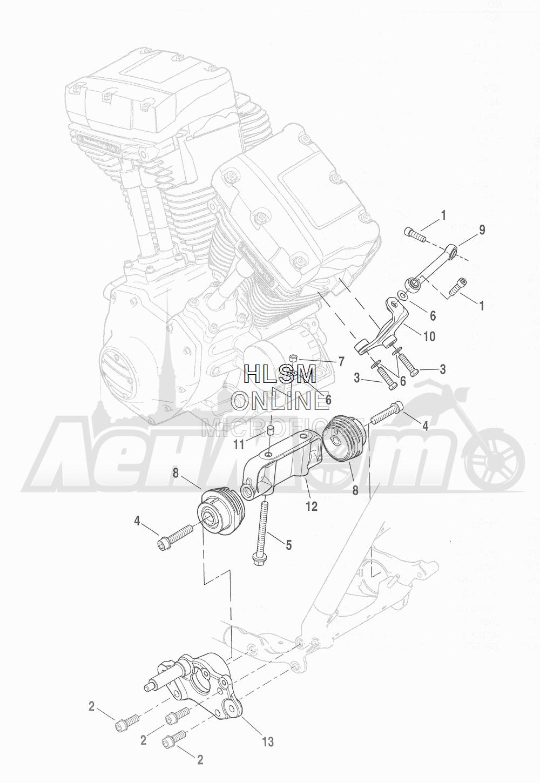 Запчасти для Мотоцикла Harley-Davidson 2016 CVO ROAD GLIDE ULTRA (TA) Раздел: ENGINE MOUNTS W/ STABILIZER LINK | опоры двигателя вместе с стабилизатор