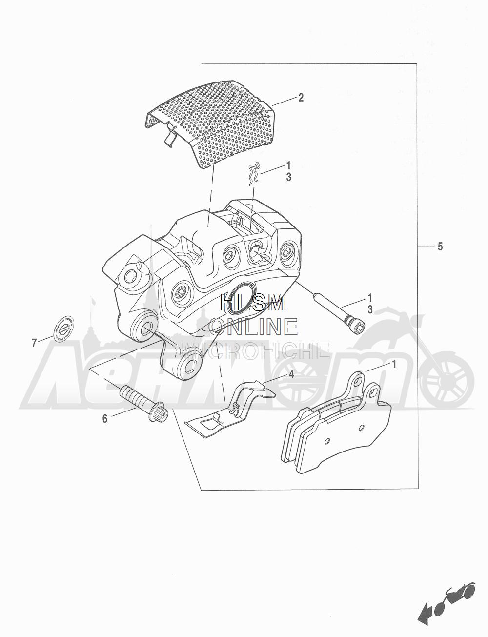 Запчасти для Мотоцикла Harley-Davidson 2016 CVO ROAD GLIDE ULTRA (TA) Раздел: BRAKE - FRONT BRAKE CALIPER ASSEMBLY | передний тормоз тормозной суппорт в сборе