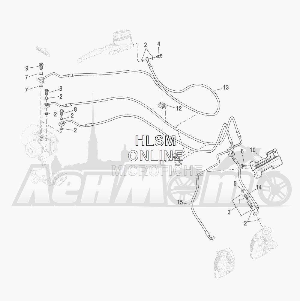 Запчасти для Мотоцикла Harley-Davidson 2016 CVO ROAD GLIDE ULTRA (TA) Раздел: BRAKE - FRONT LINE (ABS)   передний тормоз магистраль (ABS)