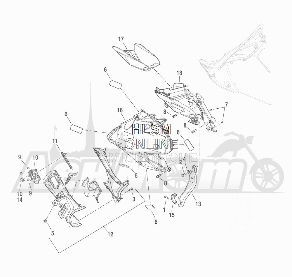 Запчасти для Мотоцикла Harley-Davidson 2016 CVO ROAD GLIDE ULTRA (TA) Раздел: FAIRING_ INNER - 2 | обтекатель внутренний 2