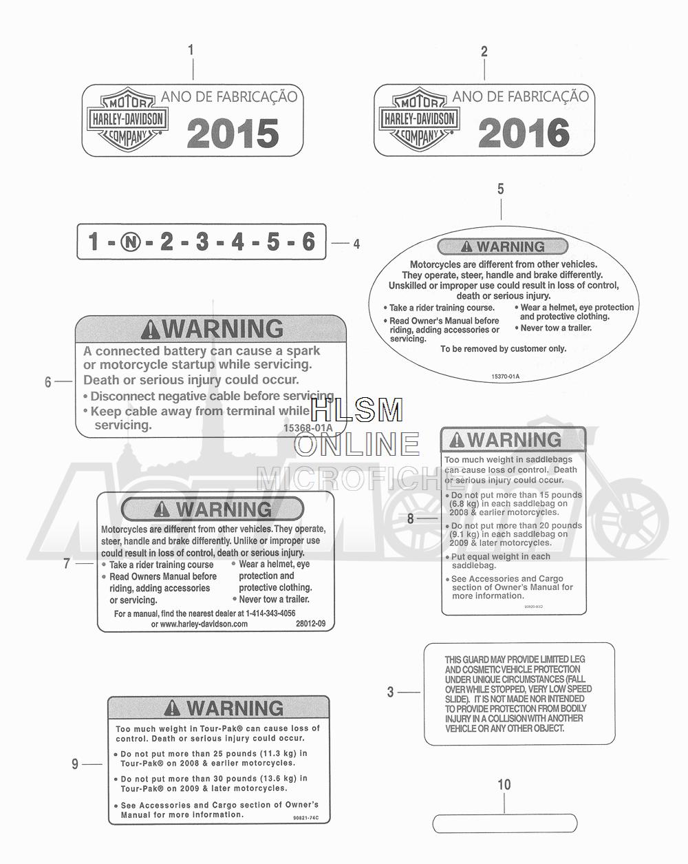 Запчасти для Мотоцикла Harley-Davidson 2016 CVO ROAD GLIDE ULTRA (TA) Раздел: GENERAL AND WARNING LABELS | общий и предупреждение этикетки, метки