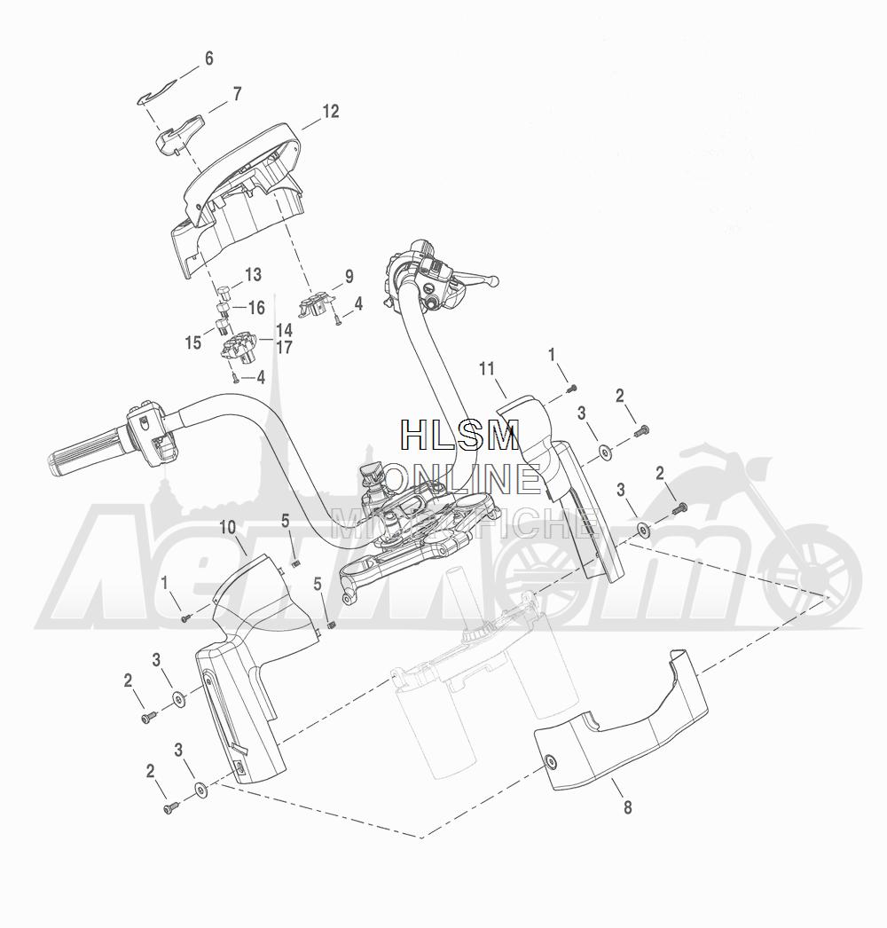 Запчасти для Мотоцикла Harley-Davidson 2016 CVO ROAD GLIDE ULTRA (TA) Раздел: INSTRUMENT HOUSING | прибор корпус, кожух