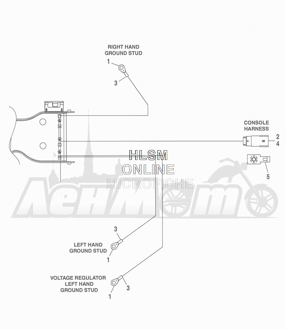 Запчасти для Мотоцикла Harley-Davidson 2016 FLHR ROAD KING (FBM) Раздел: WIRING HARNESS_ MAIN - ABS (NON-FAIRING MODELS) - 5 | электропроводка главный жгут ABS (не модели с обтекателем) 5