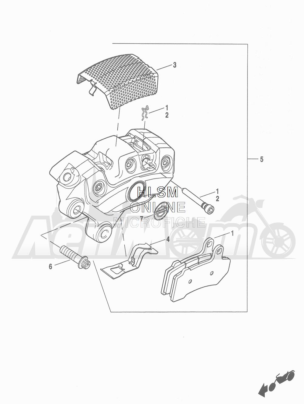 Запчасти для Мотоцикла Harley-Davidson 2016 FLHR ROAD KING (FBM) Раздел: BRAKE - FRONT BRAKE CALIPER ASSEMBLY | передний тормоз тормозной суппорт в сборе