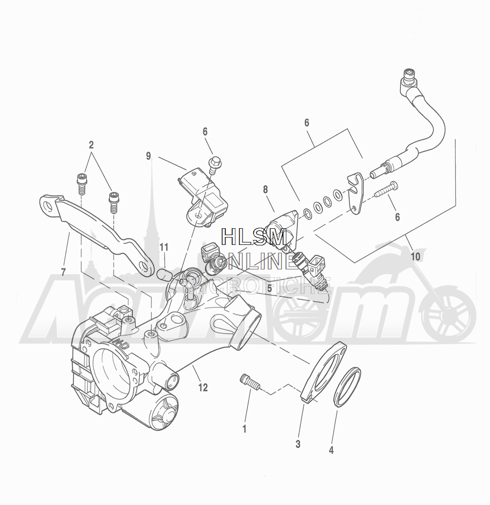 Запчасти для Мотоцикла Harley-Davidson 2016 FLHRC ROAD KING CLASSIC (FRM) Раздел: THROTTLE BODY - INDUCTION MODULE | дроссельный узел индукционный модуль