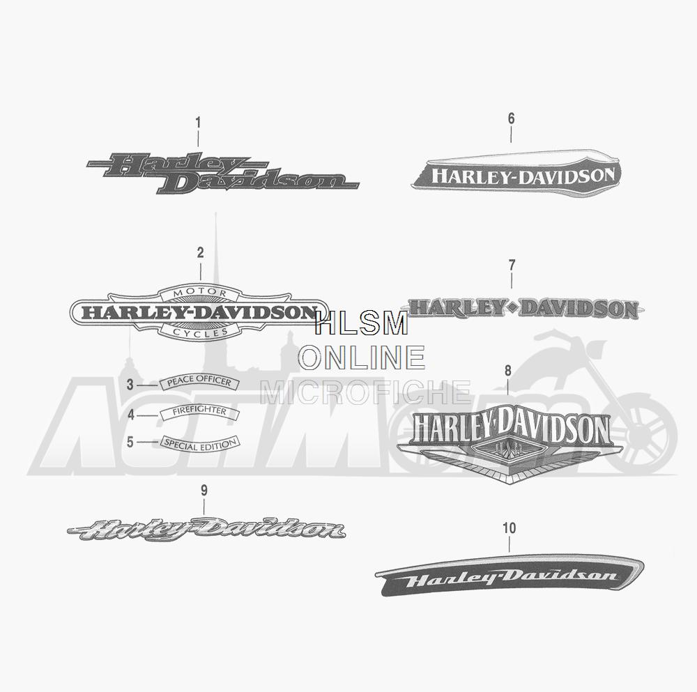 Запчасти для Мотоцикла Harley-Davidson 2016 FLHRC ROAD KING CLASSIC (FRM) Раздел: FUEL TANK DECALS AND NAME PLATES | топливный бак наклейки и фирменные таблички