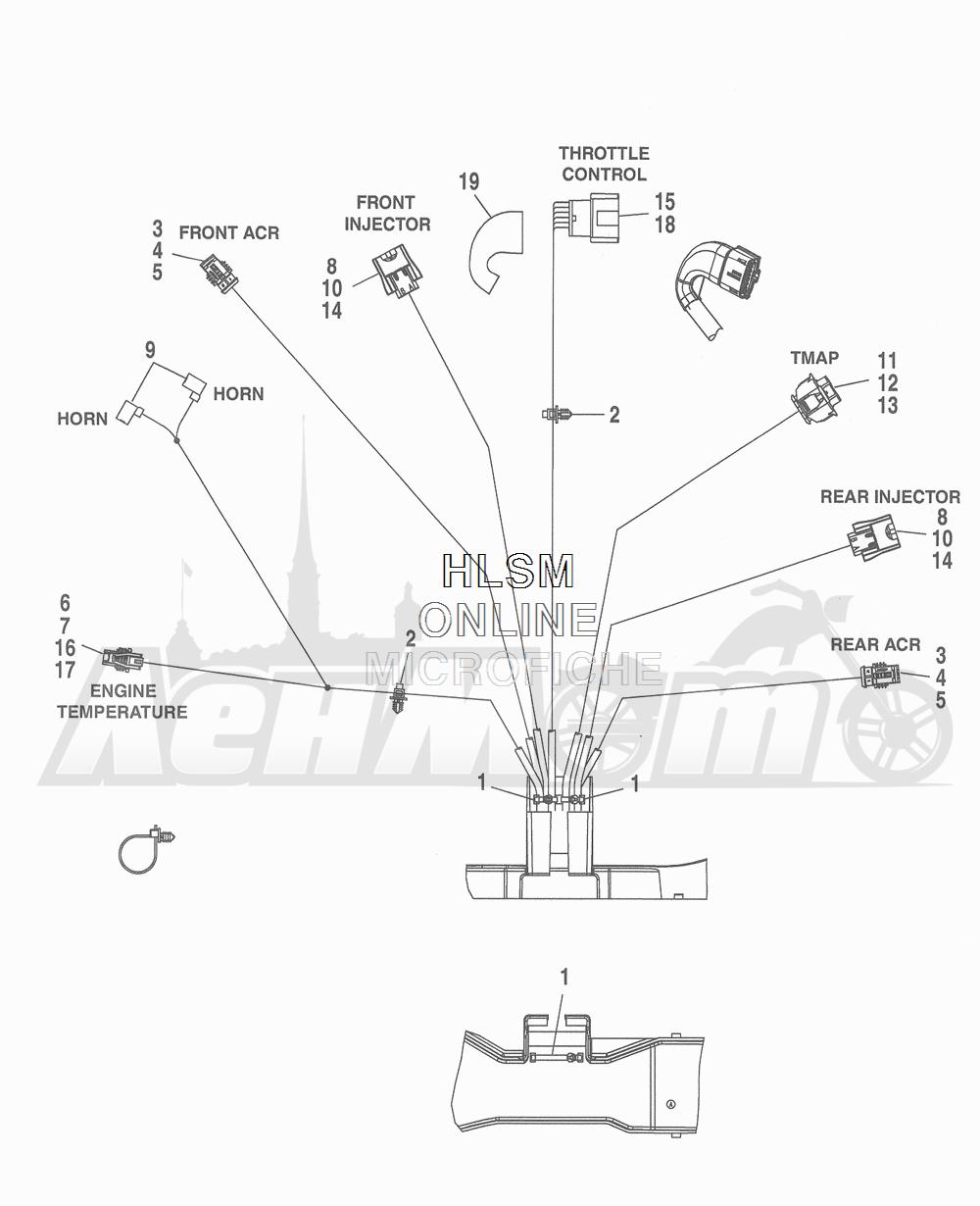 Запчасти для Мотоцикла Harley-Davidson 2016 FLHTCU 103 ULTRA CLASSIC ELECTRAGLIDE (FCM) Раздел: WIRING HARNESS_ MAIN - ABS (FAIRING MODELS) - 3 | электропроводка главный жгут ABS (модели с обтекателем) 3