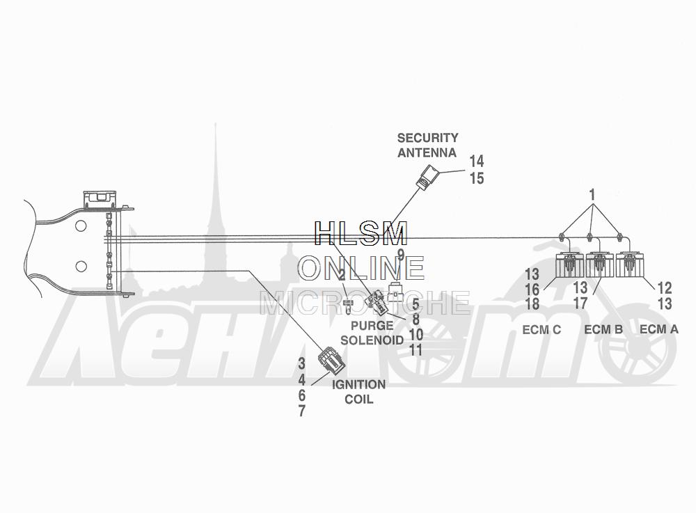 Запчасти для Мотоцикла Harley-Davidson 2016 FLHTCU 103 ULTRA CLASSIC ELECTRAGLIDE (FCM) Раздел: WIRING HARNESS_ MAIN - ABS (FAIRING MODELS) - 4 | электропроводка главный жгут ABS (модели с обтекателем) 4