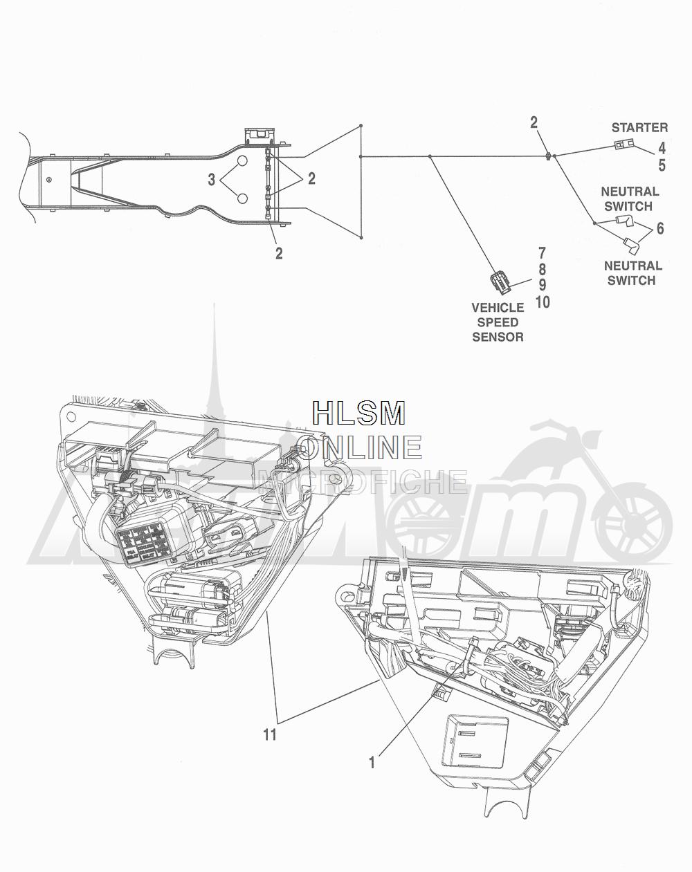Запчасти для Мотоцикла Harley-Davidson 2016 FLHTCU 103 ULTRA CLASSIC ELECTRAGLIDE (FCM) Раздел: WIRING HARNESS_ MAIN - ABS (FAIRING MODELS) - 6 | электропроводка главный жгут ABS (модели с обтекателем) 6