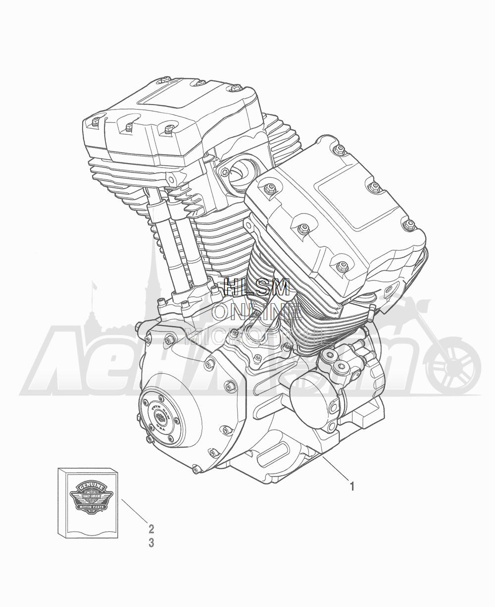 Запчасти для Мотоцикла Harley-Davidson 2016 FLHTCU 103 ULTRA CLASSIC ELECTRAGLIDE (FCM) Раздел: ENGINE ASSEMBLY | двигатель в сборе
