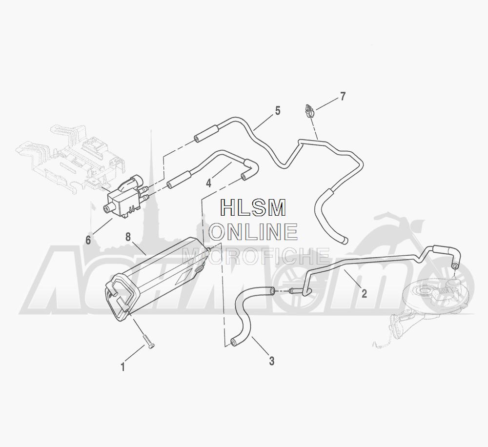 Запчасти для Мотоцикла Harley-Davidson 2016 FLHTCU 103 ULTRA CLASSIC ELECTRAGLIDE (FCM) Раздел: EVAPORATIVE EMISSIONS COMPONENTS (CALIF. ONLY) | испаритель выбросов компоненты (калифорния. только)