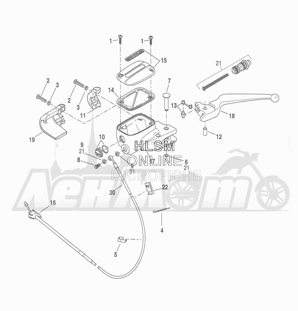 Запчасти для Мотоцикла Harley-Davidson 2016 FLHTCU 103 ULTRA CLASSIC ELECTRAGLIDE (FCM) Раздел: CLUTCH - CONTROL (FAIRING MODELS) | сцепление управление (модели с обтекателем)