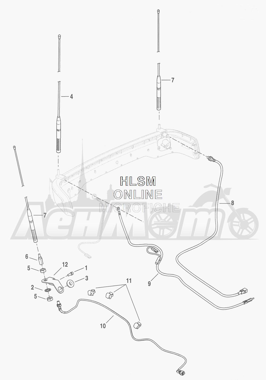 Запчасти для Мотоцикла Harley-Davidson 2016 FLHTCU TC ELECTRA GLIDE ULTRA CLASSIC (KSL) Раздел: ANTENNAS | антенны