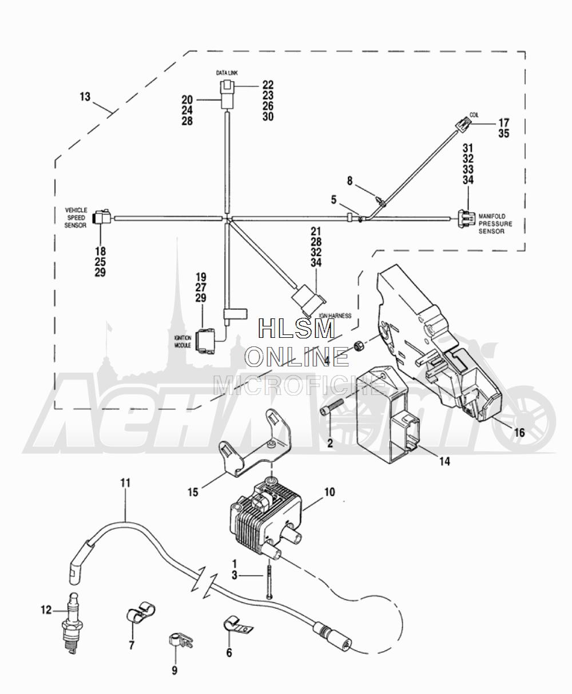 Запчасти для Мотоцикла Harley-Davidson 2005 FLTRI ROAD GLIDE® (INJECTION) (FS) Раздел: ELECTRICAL - ELECTRONIC CONTROL MODULE W/ COIL ASSEMBLY   электрика электронный управление модуль вместе с катушка в сборе