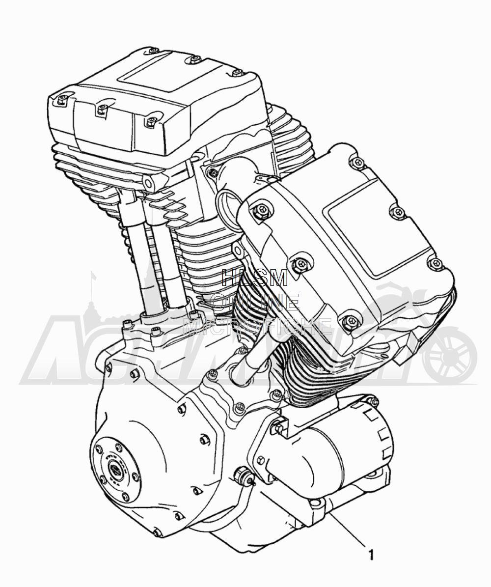 Запчасти для Мотоцикла Harley-Davidson 2005 FLTRI ROAD GLIDE® (INJECTION) (FS) Раздел: ENGINE ASSEMBLY | двигатель в сборе
