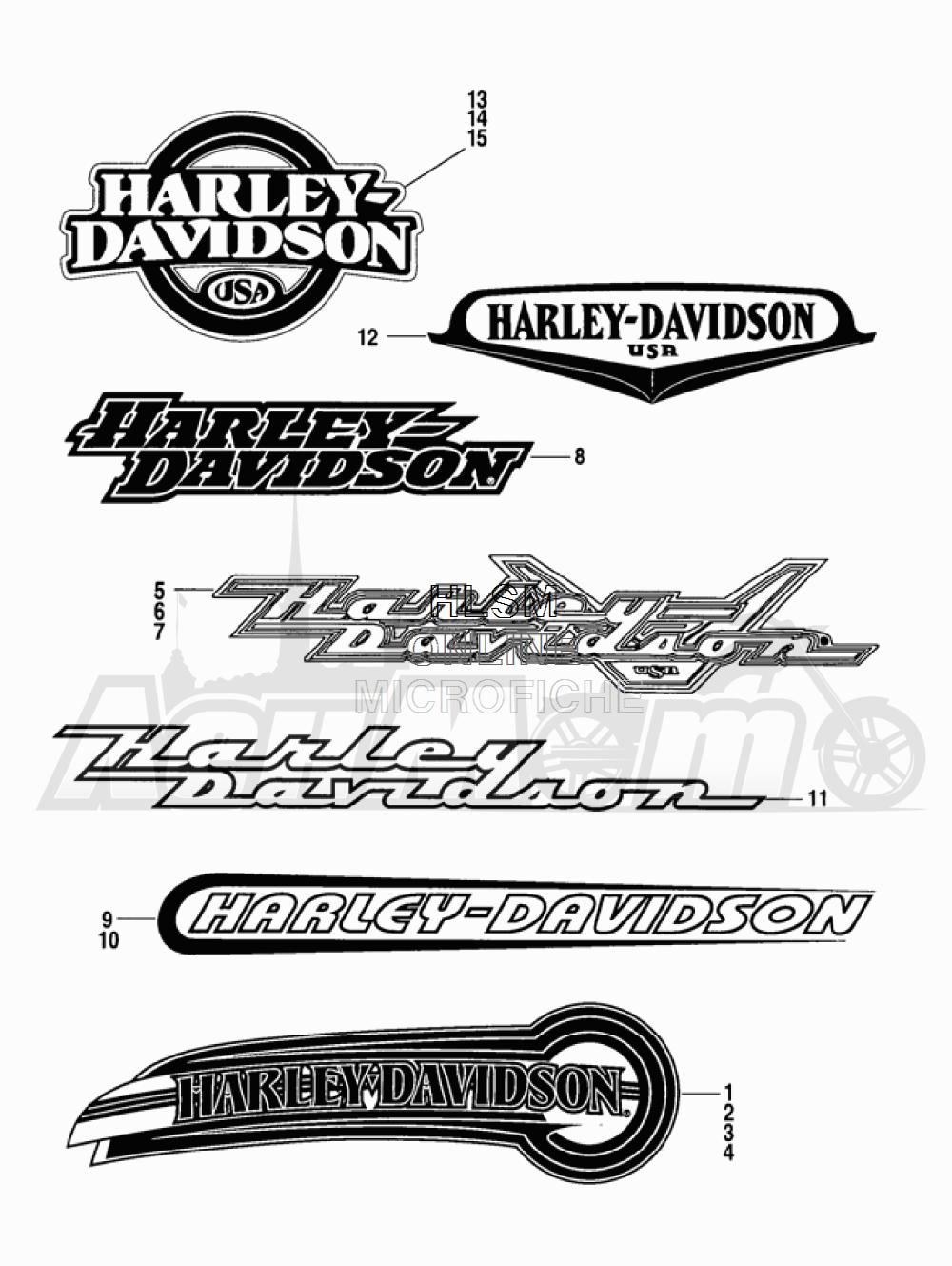 Запчасти для Мотоцикла Harley-Davidson 2005 FLTRI ROAD GLIDE® (INJECTION) (FS) Раздел: FUEL TANK DECALS AND NAME PLATES | топливный бак наклейки и фирменные таблички