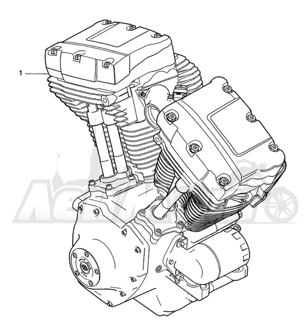 Запчасти для Мотоцикла Harley-Davidson 2005 FXDC DYNA® SUPER GLIDE CUSTOM (GT) Раздел: ENGINE ASSEMBLY | двигатель в сборе