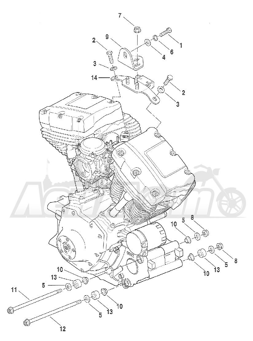 Запчасти для Мотоцикла Harley-Davidson 2005 FXSTI SOFTAIL® (BV) (EFI) Раздел: ENGINE MOUNTS | опоры двигателя