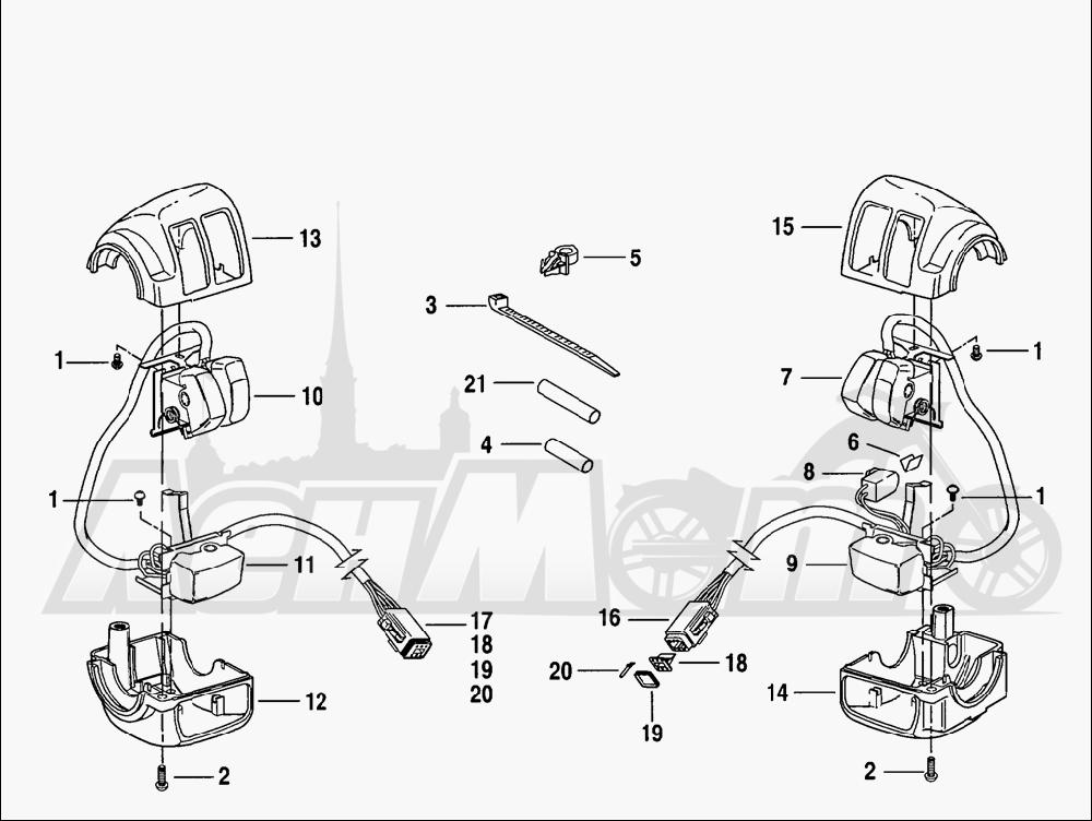 Запчасти для Мотоцикла Harley-Davidson 2005 V-ROD® ANODIZED Раздел: ELECTRICAL - HANDLEBAR SWITCH ASSEMBLIES | электрика руль переключатель в сборе