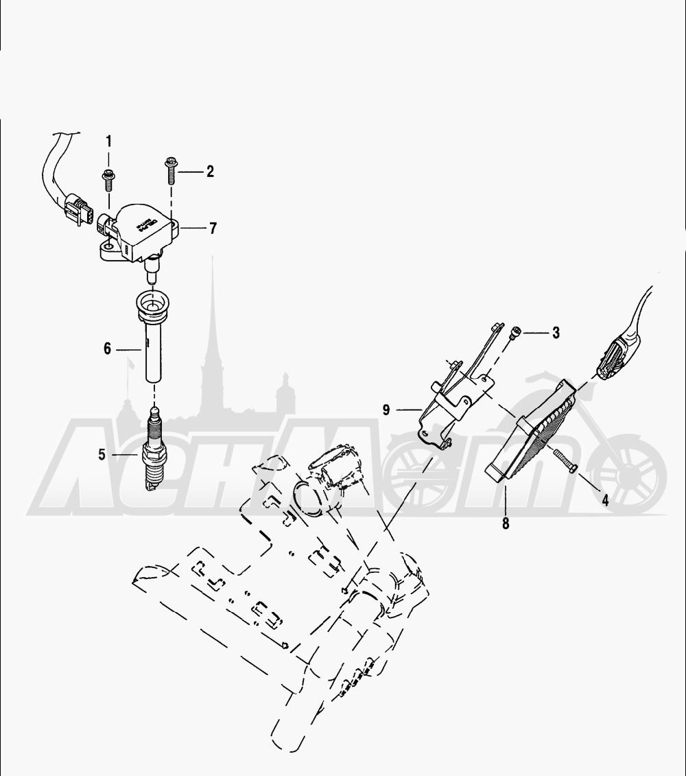 Запчасти для Мотоцикла Harley-Davidson 2005 V-ROD® BLACK Раздел: ELECTRICAL - ELECTRONIC CONTROL MODULE W/ COIL ASSEMBLY | электрика электронный управление модуль вместе с катушка в сборе