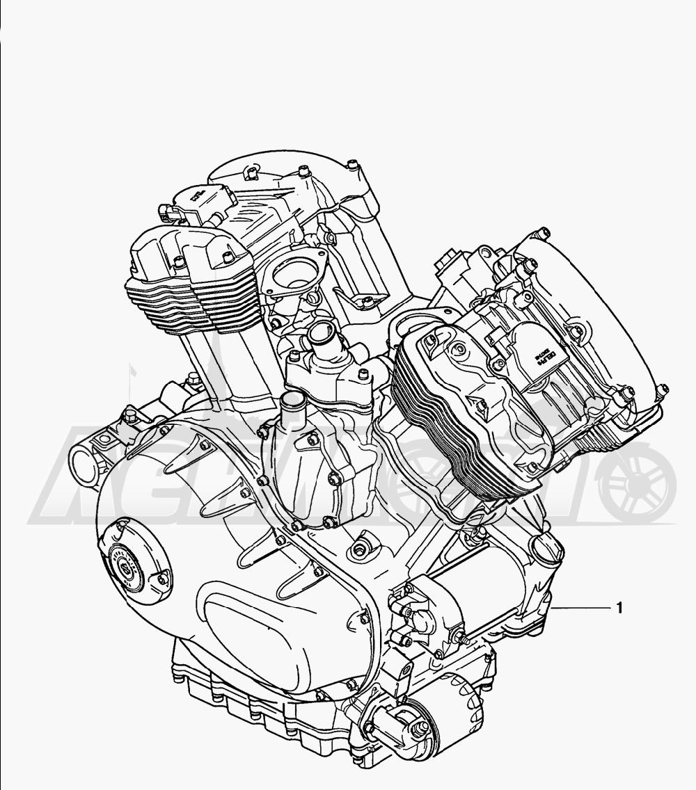 Запчасти для Мотоцикла Harley-Davidson 2005 V-ROD® BLACK Раздел: ENGINE ASSEMBLY | двигатель в сборе