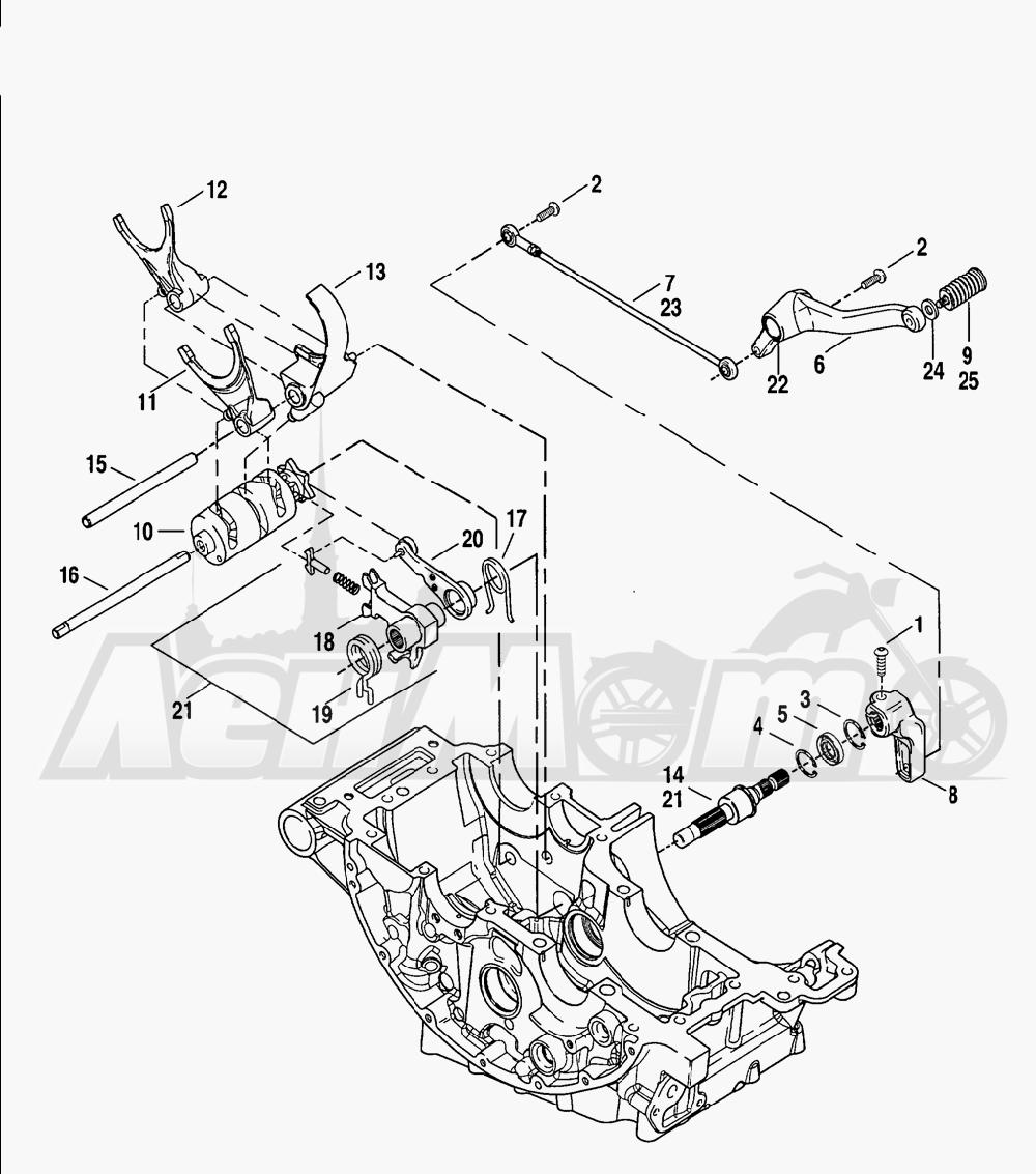 Запчасти для Мотоцикла Harley-Davidson 2005 V-ROD® BLACK Раздел: GEAR SHIFTER ASSEMBLY | переключатель скоростей в сборе
