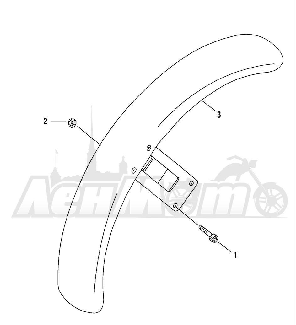 Запчасти для Мотоцикла Harley-Davidson 2005 SPORTSTER® XL 1200C CUSTOM (CG) Раздел: FENDER - FRONT   переднее крыло