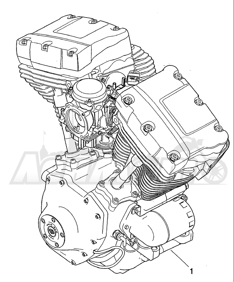Запчасти для Мотоцикла Harley-Davidson 2004 FLHR ROAD KING® Раздел: COMPLETE ENGINE   COMPLETE двигатель