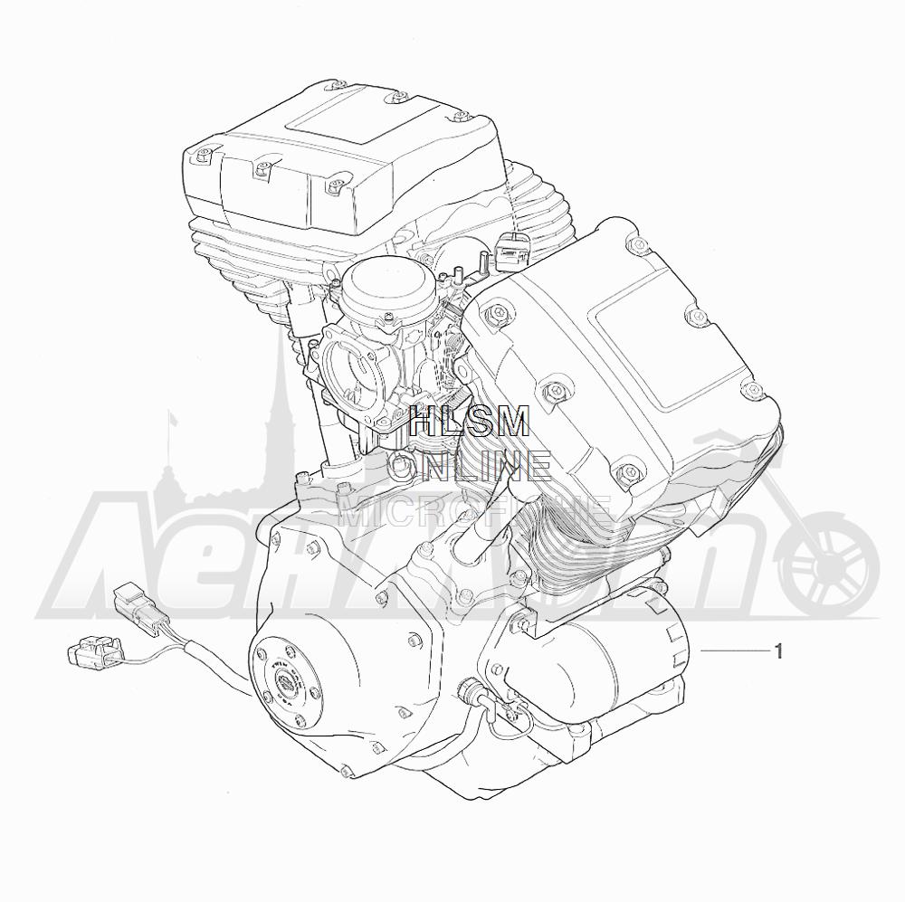 Запчасти для Мотоцикла Harley-Davidson 2001 FXDWG DYNA® WIDE GLIDE (GE) Раздел: COMPLETE ENGINE | COMPLETE двигатель