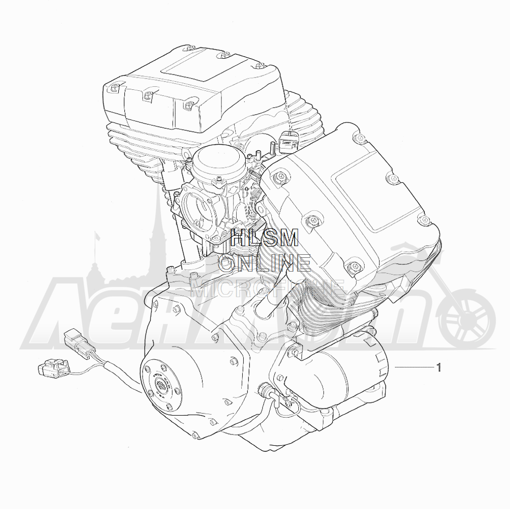 Запчасти для Мотоцикла Harley-Davidson 2001 FXDX DYNA® A SUPER GLIDE SPORT (GJ) Раздел: COMPLETE ENGINE | COMPLETE двигатель