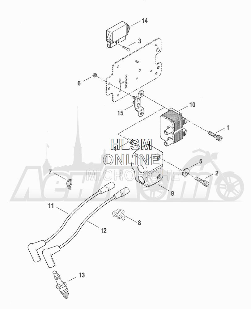 Запчасти для Мотоцикла Harley-Davidson 2001 FXDX DYNA® A SUPER GLIDE SPORT (GJ) Раздел: ELECTRICAL - ELECTRONIC CONTROL MODULE W/ COIL ASSEMBLY | электрика электронный управление модуль вместе с катушка в сборе