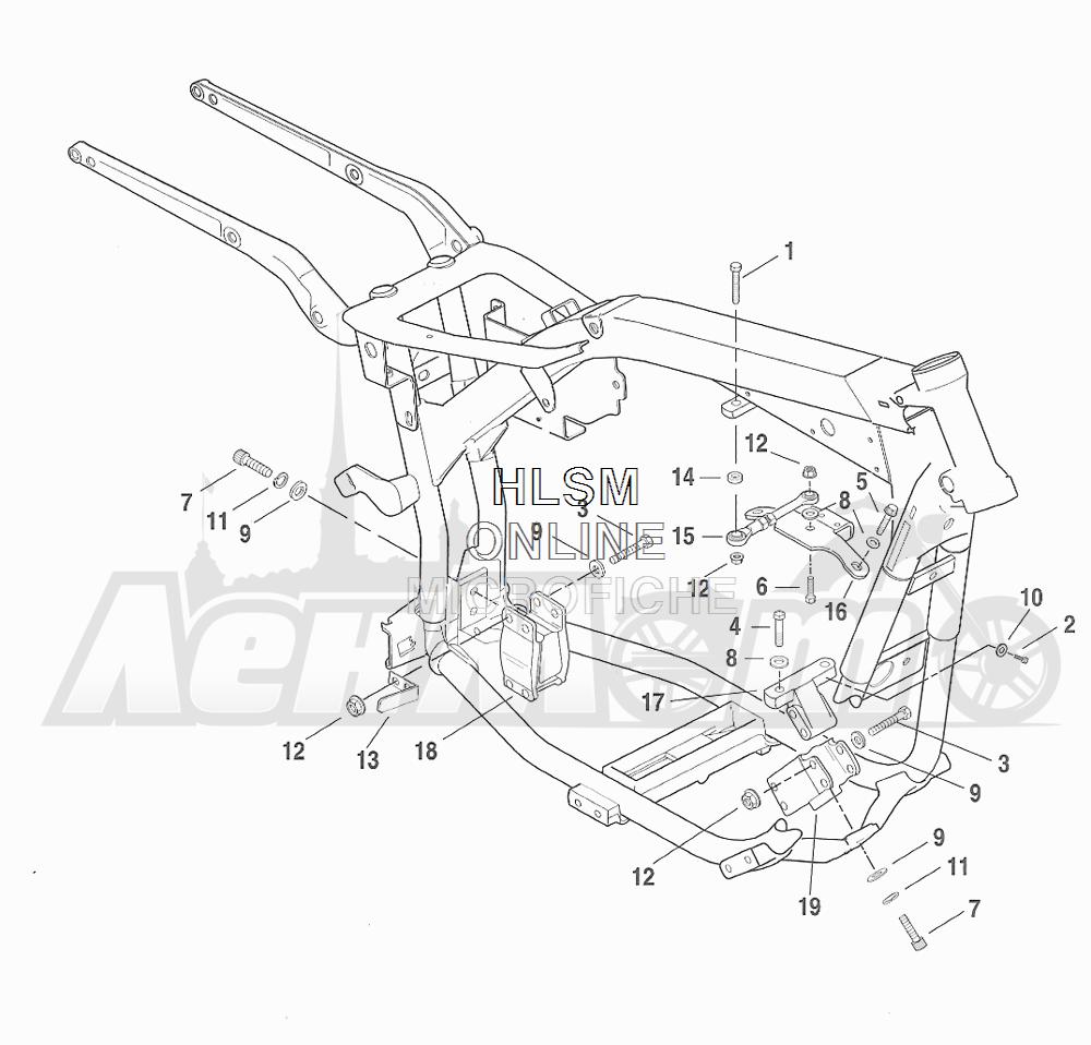Запчасти для Мотоцикла Harley-Davidson 2001 FXDX DYNA® A SUPER GLIDE SPORT (GJ) Раздел: ENGINE MOUNTS W/ STABILIZER LINK | опоры двигателя вместе с стабилизатор