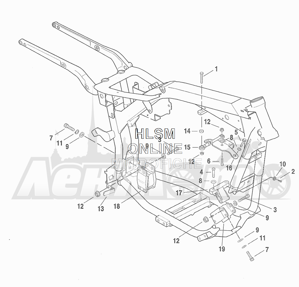 Запчасти для Мотоцикла Harley-Davidson 2001 FXDXT DYNA® SUPER GLIDE T-SPOT (GL) Раздел: ENGINE MOUNTS W/ STABILIZER LINK | опоры двигателя вместе с стабилизатор
