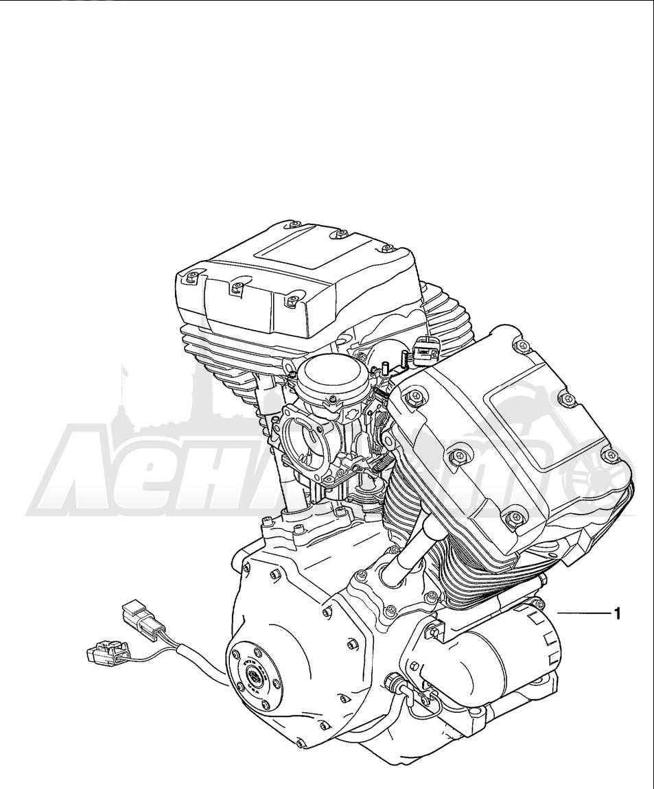 Запчасти для Мотоцикла Harley-Davidson 2001 FXDWG2 DYNA® WIDE GLIDE® Раздел: COMPLETE ENGINE   COMPLETE двигатель