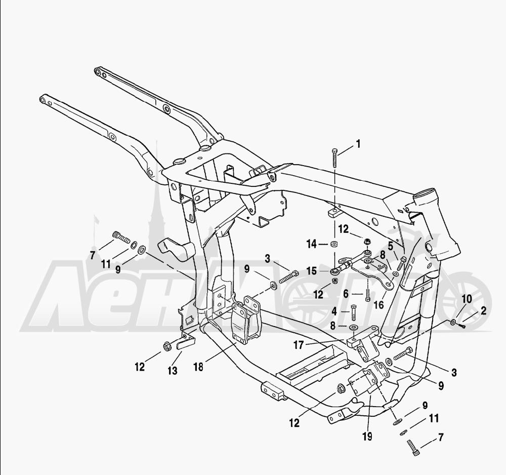 Запчасти для Мотоцикла Harley-Davidson 2001 FXDWG2 DYNA® WIDE GLIDE® Раздел: ENGINE MOUNTS W/ STABILIZER LINK | опоры двигателя вместе с стабилизатор