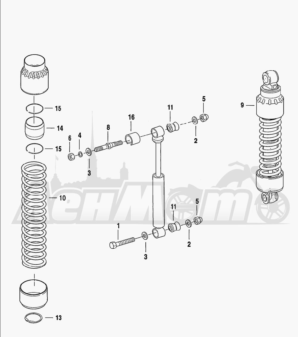 Запчасти для Мотоцикла Harley-Davidson 2001 FXDWG2 DYNA® WIDE GLIDE® Раздел: SUSPENSION - SHOCK ABSORBERS - HYDRAULIC | подвеска амортизаторы гидравлический