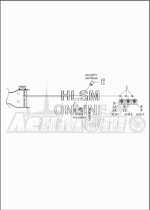 Запчасти для Мотоцикла Harley-Davidson 2019 FLHR ROAD KING (FB) Раздел: WIRING HARNESS_MAIN - NON-ABS - 4 | электропроводка главный жгут не ABS 4