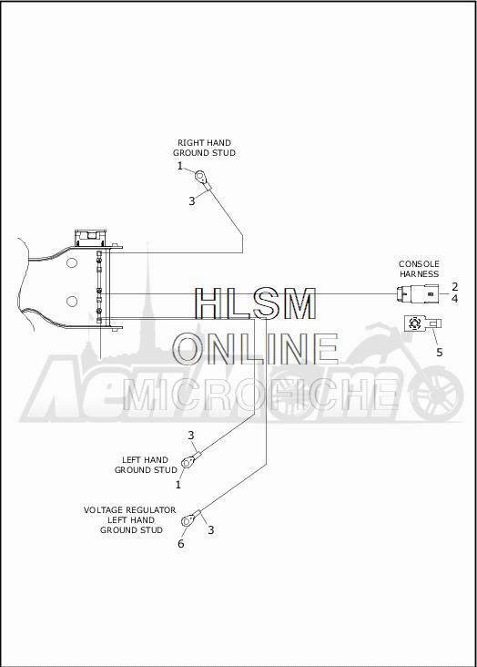 Запчасти для Мотоцикла Harley-Davidson 2019 FLHR ROAD KING (FB) Раздел: WIRING HARNESS_MAIN - NON-ABS - 5 | электропроводка главный жгут не ABS 5