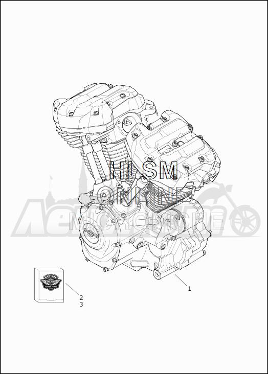 Запчасти для Мотоцикла Harley-Davidson 2019 FLHR ROAD KING (FB) Раздел: ENGINE ASSEMBLY   двигатель в сборе