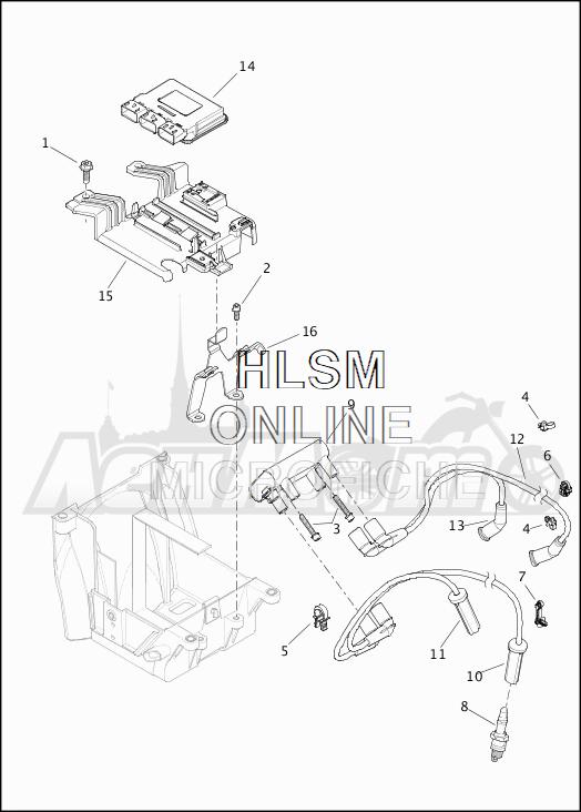 Запчасти для Мотоцикла Harley-Davidson 2019 FLHRC ROAD KING CLASSIC (FR) Раздел: ELECTRICAL - ELECTRONIC CONTROL MODULE W/COIL ASSEMBLY   электрика электронный управление модуль вместе с катушка в сборе