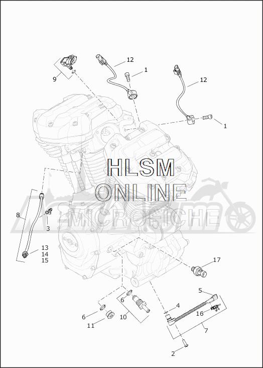 Запчасти для Мотоцикла Harley-Davidson 2019 FLHRC ROAD KING CLASSIC (FR) Раздел: ELECTRICAL - SWITCHES AND SENSORS | электрика выключатели, переключатели и датчики