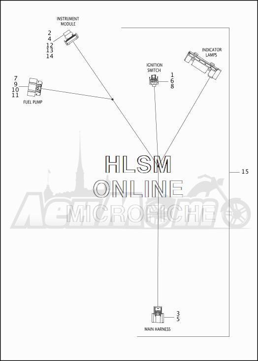 Запчасти для Мотоцикла Harley-Davidson 2019 FLHRC ROAD KING CLASSIC (FR) Раздел: ELECTRICAL - CONSOLE WIRING HARNESS   электрика консоль электропроводка коса