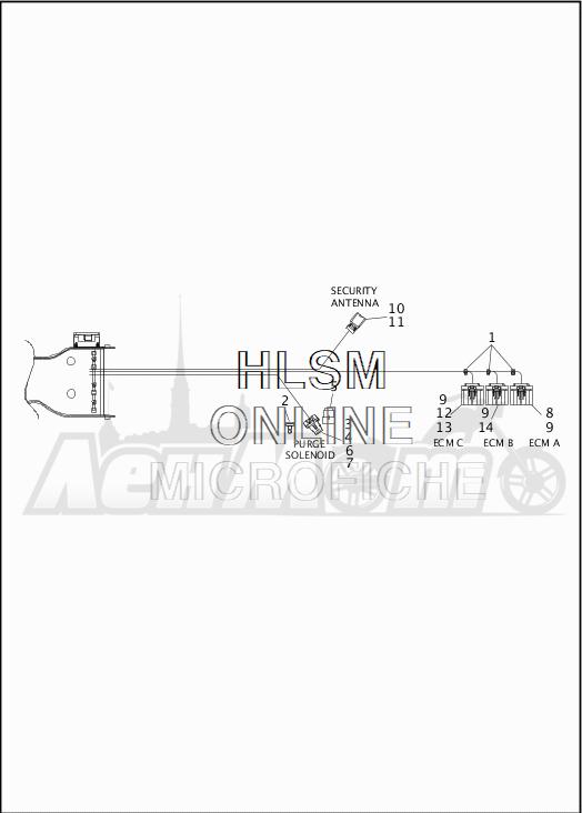 Запчасти для Мотоцикла Harley-Davidson 2019 FLHRXS ROAD KING SPECIAL (KV) Раздел: WIRING HARNESS_MAIN - ABS - 4 | электропроводка главный жгут ABS 4