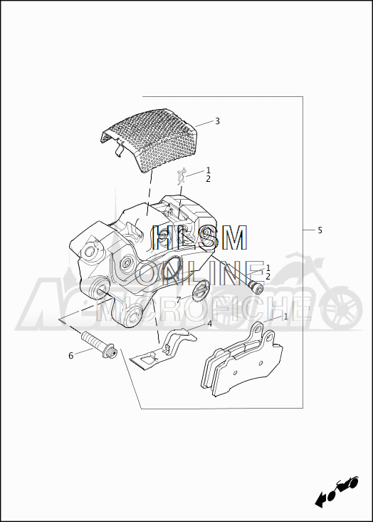 Запчасти для Мотоцикла Harley-Davidson 2019 FLHTCU ELECTRA GLIDE ULTRA CLASSIC (FC) Раздел: BRAKE - FRONT BRAKE CALIPER ASSEMBLY | передний тормоз тормозной суппорт в сборе