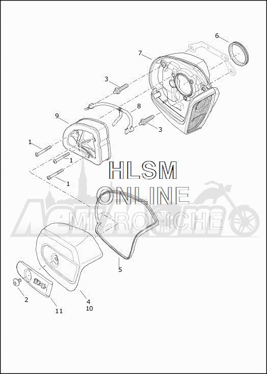 Запчасти для Мотоцикла Harley-Davidson 2019 FLHTCUTG TRI GLIDE ULTRA (MA) Раздел: AIR CLEANER ASSEMBLY | очиститель воздуха в сборе