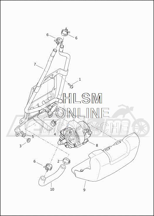 Запчасти для Мотоцикла Harley-Davidson 2019 FLHTCUTG TRI GLIDE ULTRA (MA) Раздел: COOLANT - PUMP/HOSES | охлаждающая жидкость насос/шланги