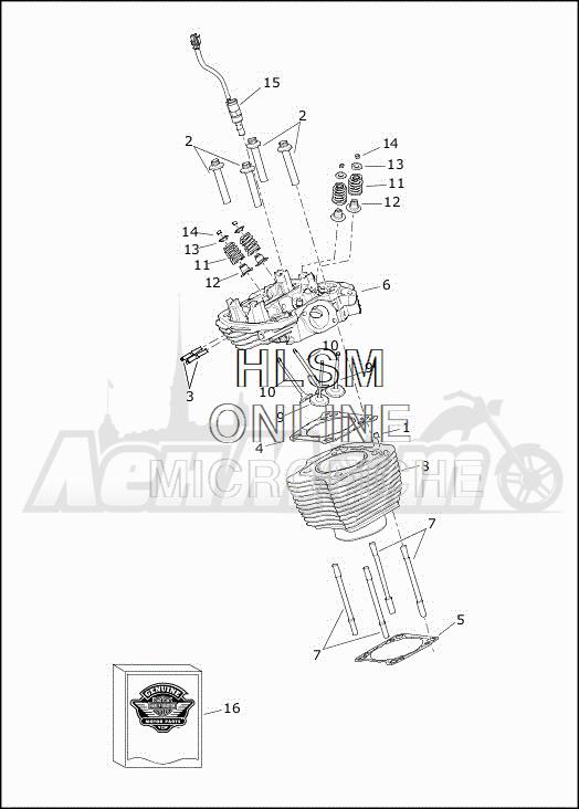 Запчасти для Мотоцикла Harley-Davidson 2019 FLHTCUTG TRI GLIDE ULTRA (MA) Раздел: CYLINDERS W/HEADS AND VALVES | цилиндры вместе с головки и клапаны